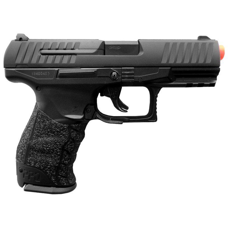Pistola de Airsoft Walther PPQ Mola BB 6MM  Maleta de Plastico Rossi  Oculos