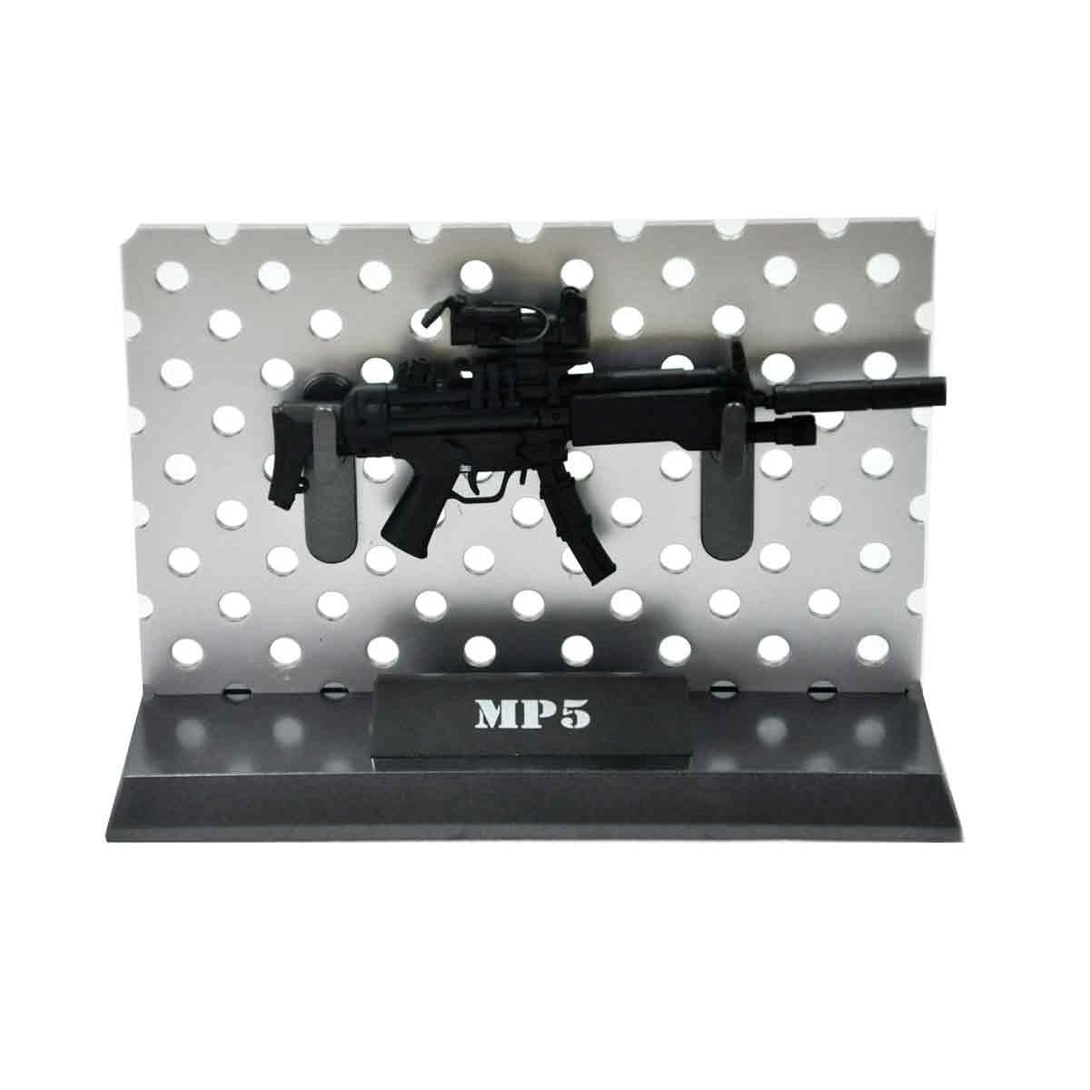 Miniatura Rifle MP5 Preta 11 cm