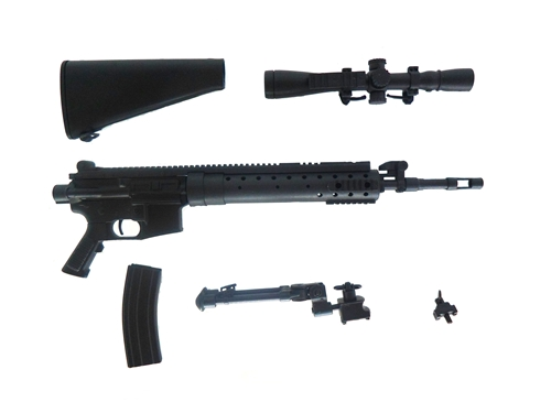 Miniatura Rifle  SPR Preta 15cm