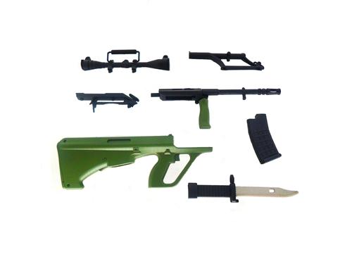 Miniatura Rifle Steyr AUG Oliva  - 15 cm