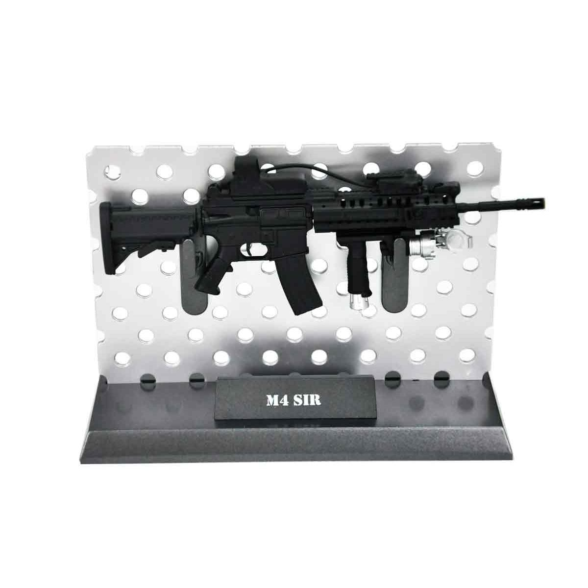 Miniatura Rifle M4 SIR Preta 14cm