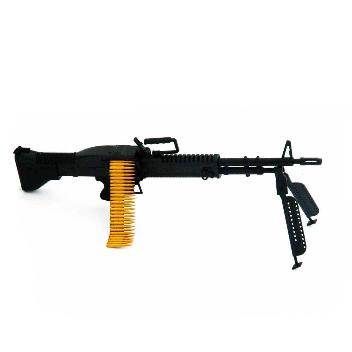 Miniatura Rifle M60 Preta 17 CM