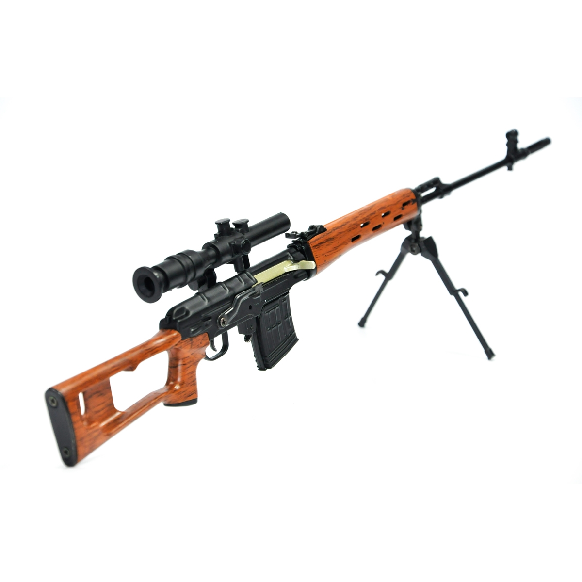 Miniatura Rifle Dragunov Clássica Preto 30CM