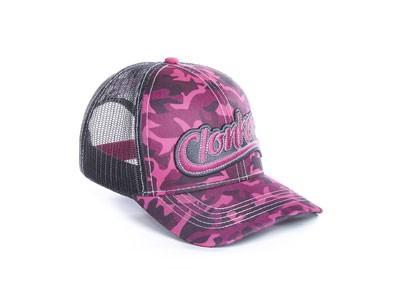 Bone Clonker Tela Cinza Frente Pink Camuflado