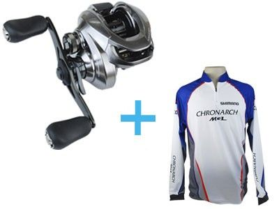 Carretilha Shimano Chronarch 150/151 Mgl + Camiseta Shimano Mgl
