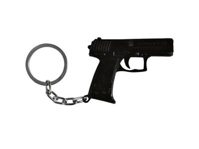 Chaveiro Pistola USP Combat 45 Auto Belica Preta