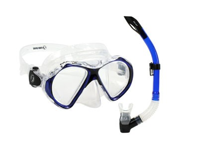 Kit Mascara Silicone 2 Lentes + Snorkel Fun Dive