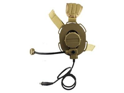 Fone com Microfone para Radio Comunicador Z029 Desert / Areia Bowman Evo