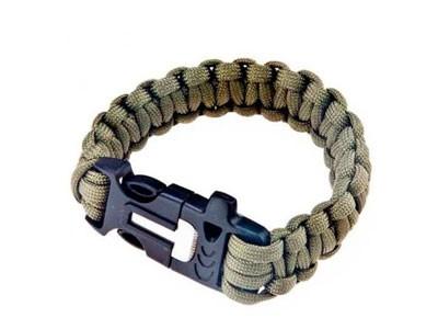 Pulseira Bracelete Survival Paracord  Com Apito e Pederneira