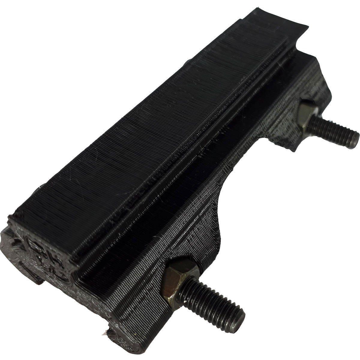Adaptador de Trilho P/ Airsoft 22mm para 11mm Preto 3D MH3D