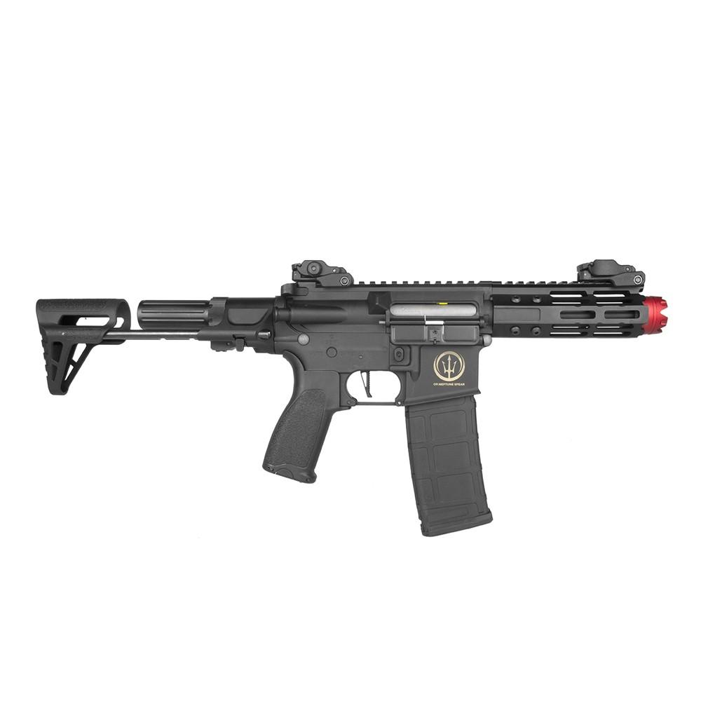 Rifle Airsoft Elétrico PDW Rossi Neptune AR15 com Gatilho ET - 6mm