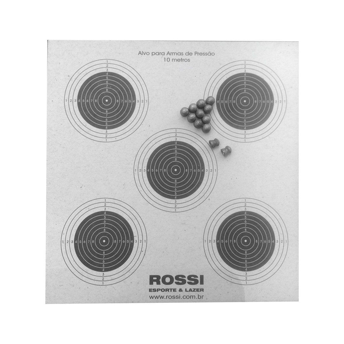 Alvo de Papel Rossi 1X5 Pacote com 100 UN