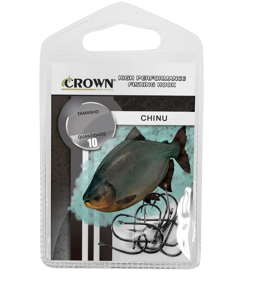 Anzol Crown Chinu Black 06 com 10 unidades