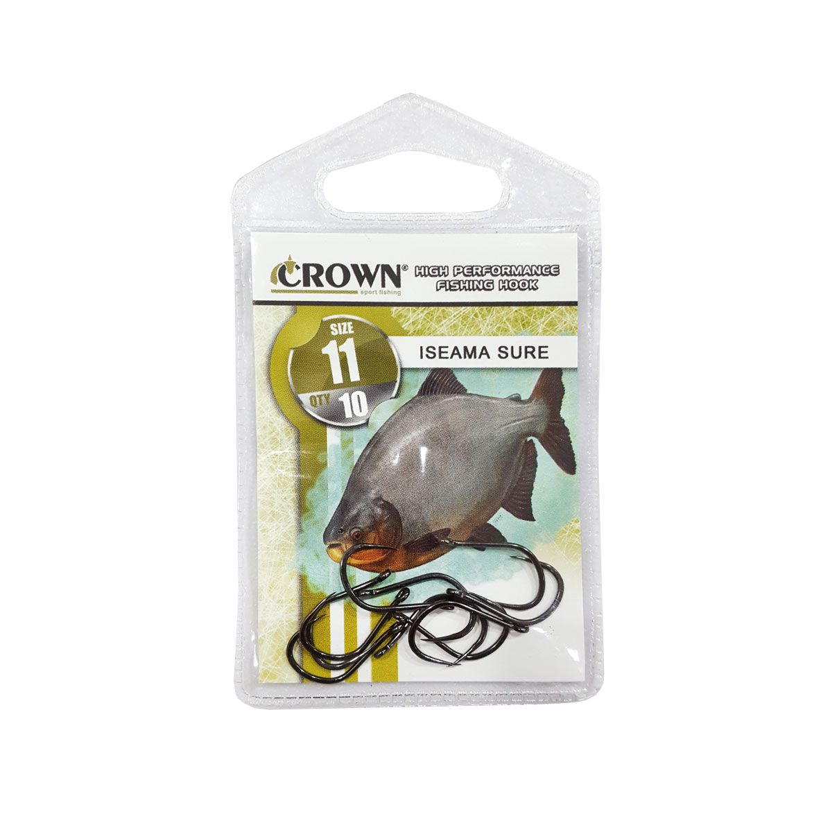 Anzol Crown Iseame Sure Black 10 Unidades