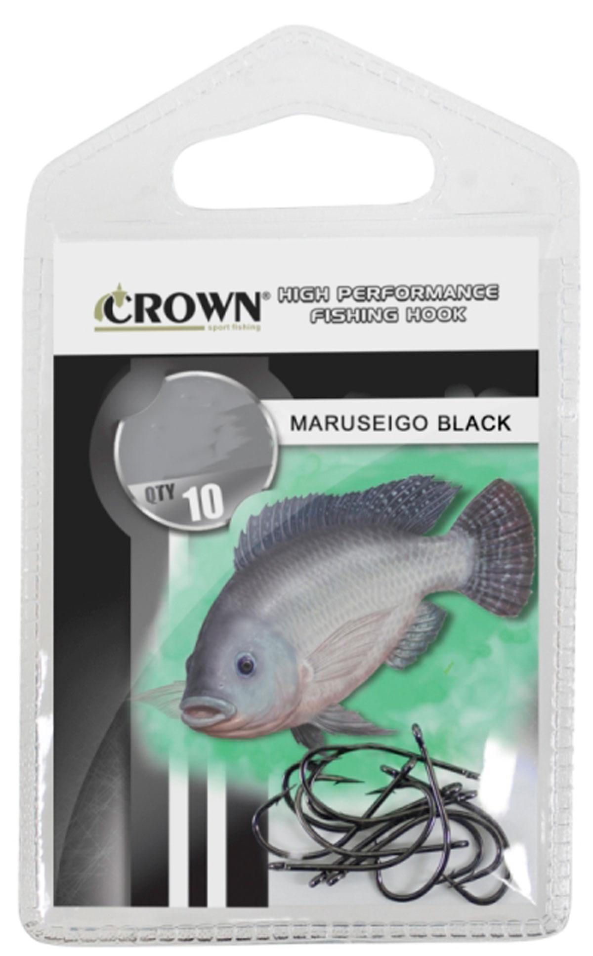 Anzol Crown Maruseigo Black para Tilápia 10 Unidades
