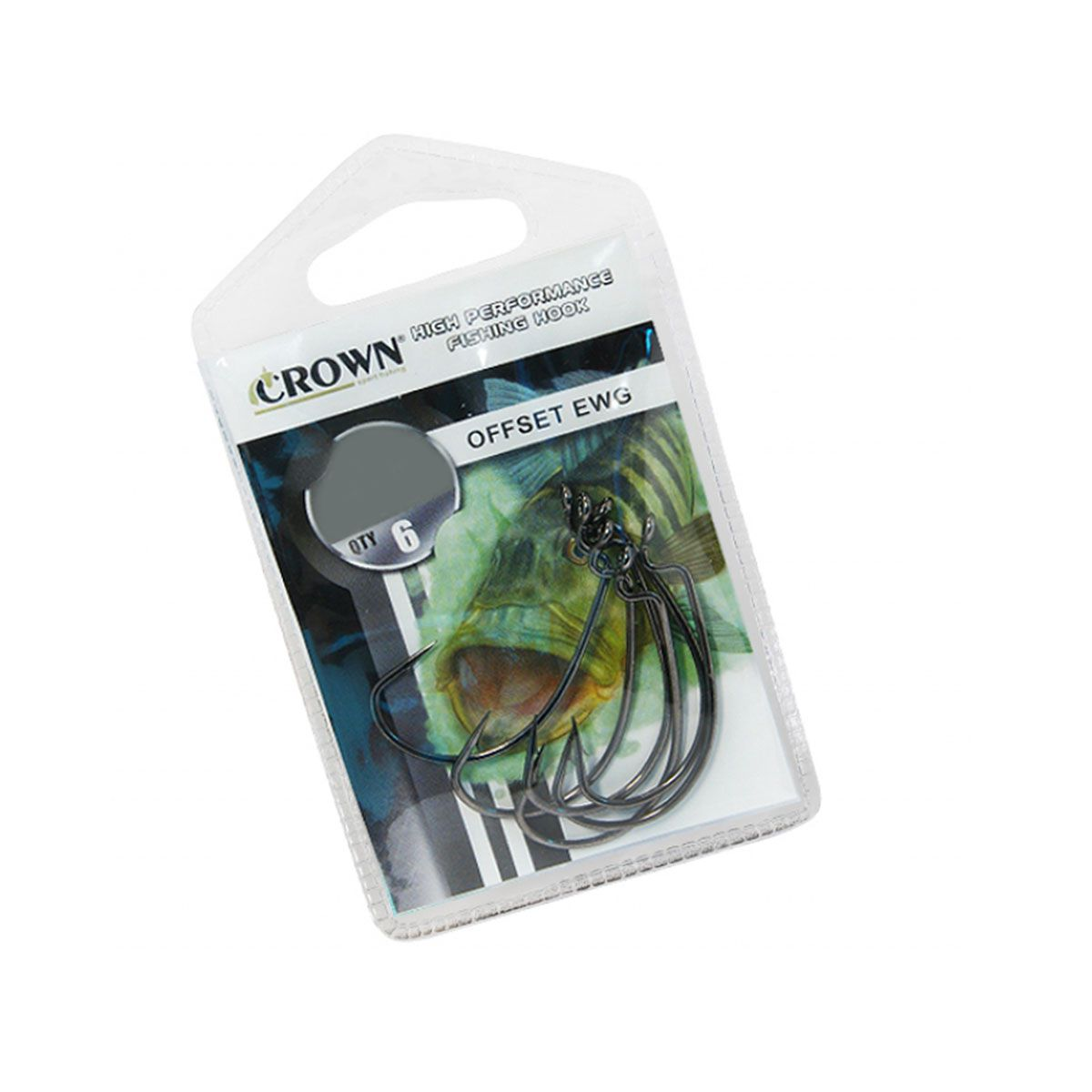 Anzol Crown Offset EWG 6 Unidades