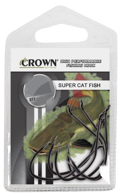 Anzol Super Cat Fish Black 6/0 - 5 Unidades