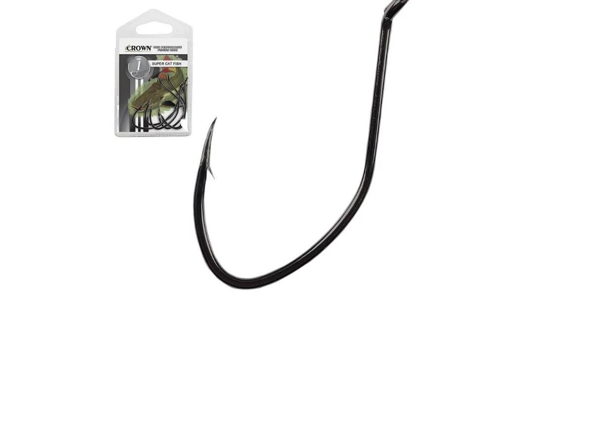 Anzol Super Cat Fish Black 10/0 - 5 Unidades