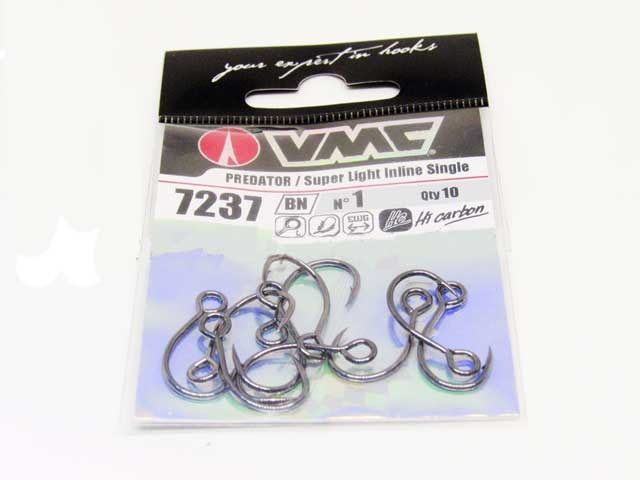 Anzol Vmc Inline S-Super Light 1 BN Blister 10 Pecas