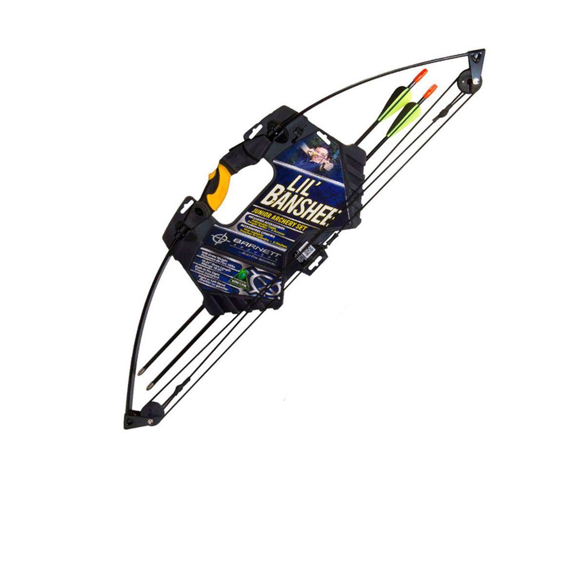 Arco Barnett Commader LilBanshee 18Lb c/ 2 Flechas Inclusas - Ambidestro Preto