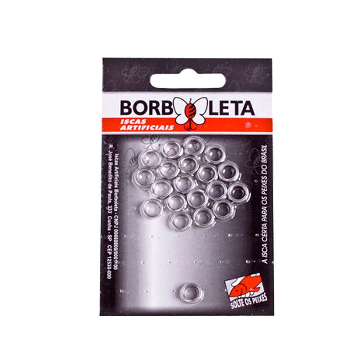Argola Inox Borboleta 10 unidades
