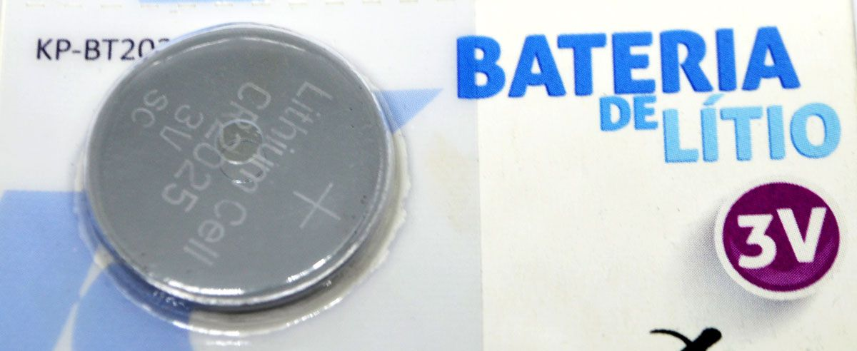 Bateria de Lítio Knup CR2025 3V