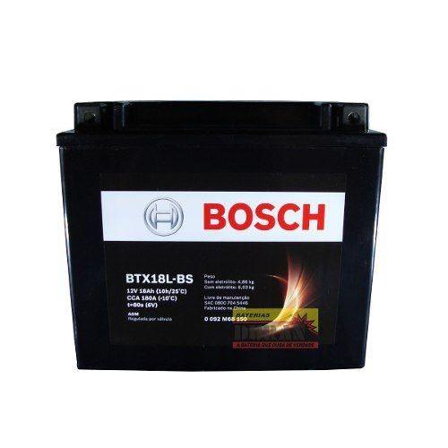 Bateria de Moto Bosch BTX18L-BS 18AH 12V