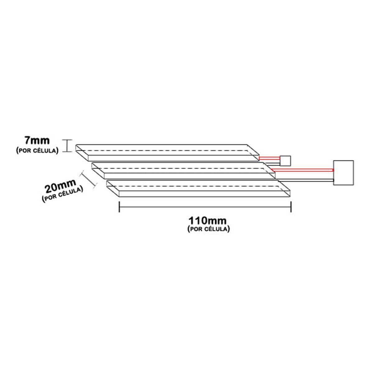 Bateria Lipo 11.1V 1100mAh 3S Mini Tamiya Plug