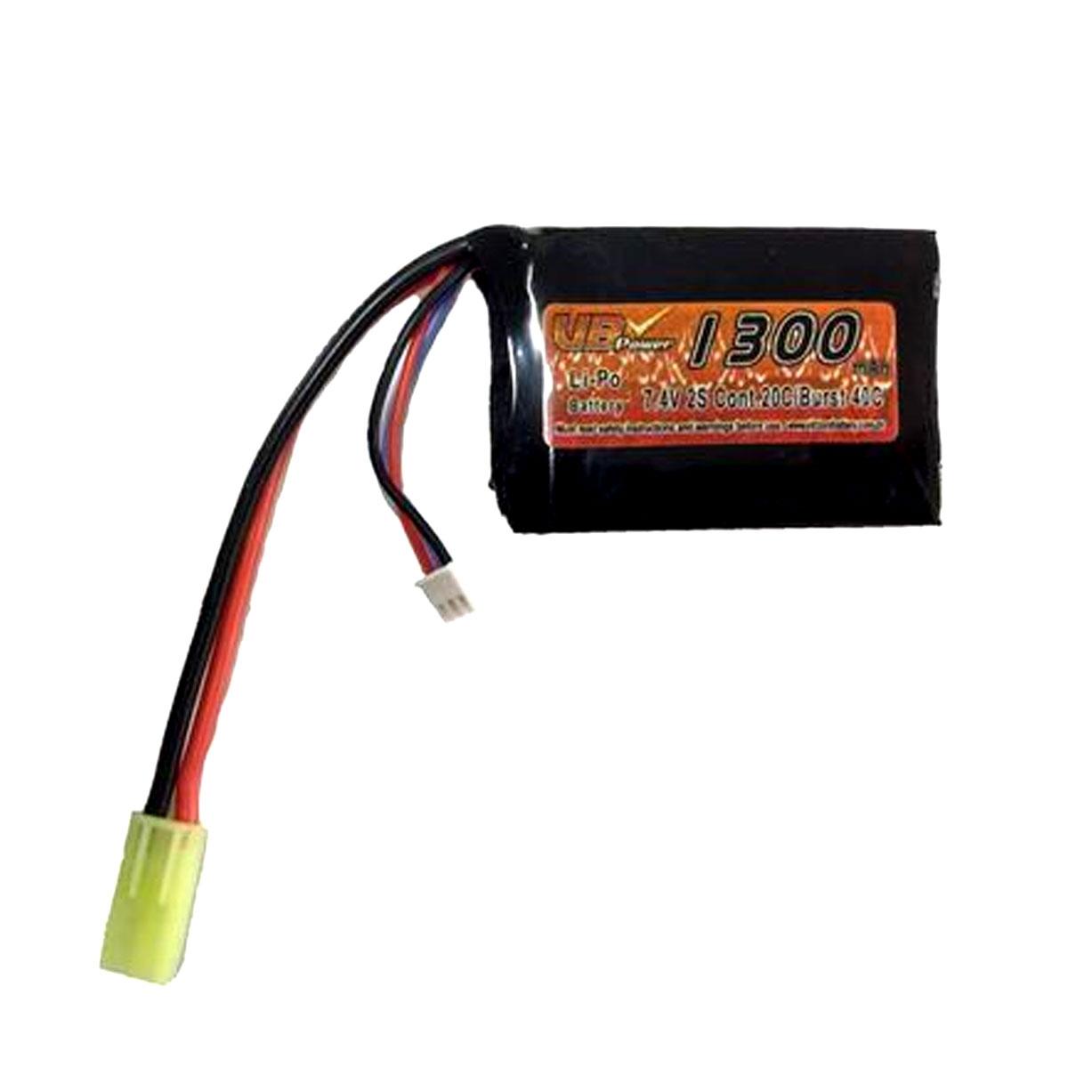 Bateria Lipo 7,4v 1300mah 20c Medidas 14,5x42x65mm
