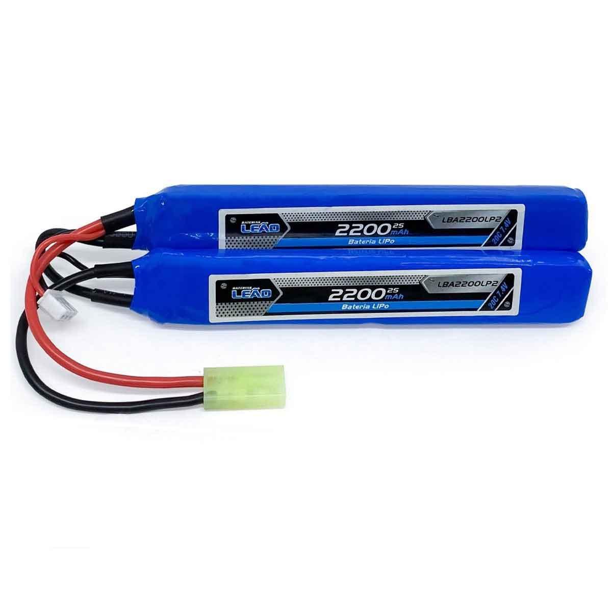 Bateria Lipo 7.4V/2S 2200mAh - 20C 2 pack