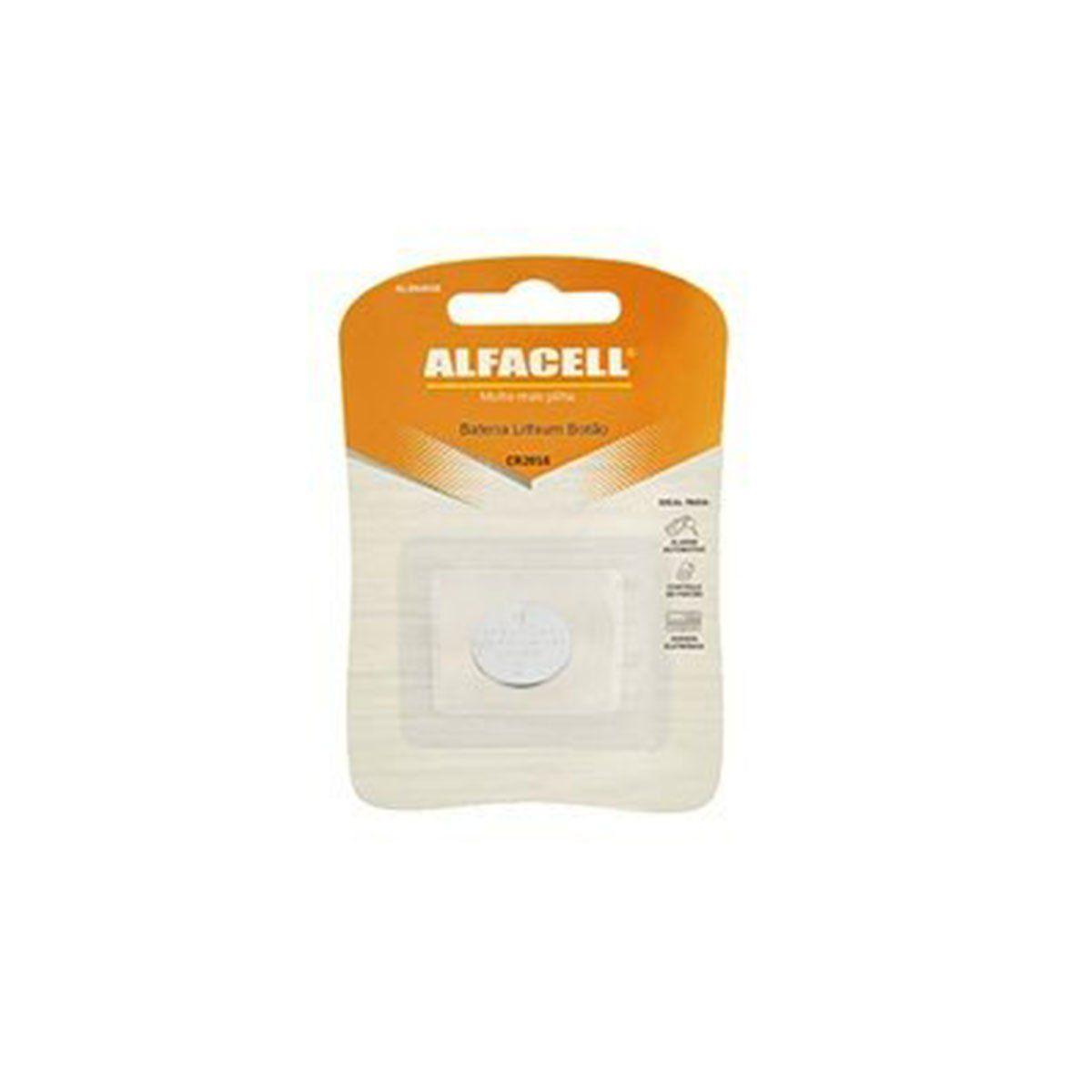 Bateria Lithium CR2016 3V Alfacell
