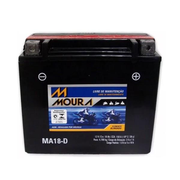 Bateria Moura p/ Moto e Jet Ski (12v - 18ah - Ma18D) Yuasa