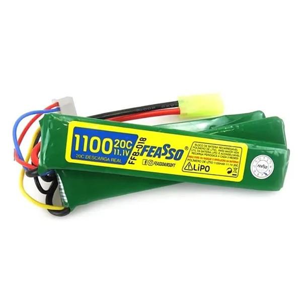 Bateria Polímero de Lítio FFB-019 (20C) 11.1V 1100mah