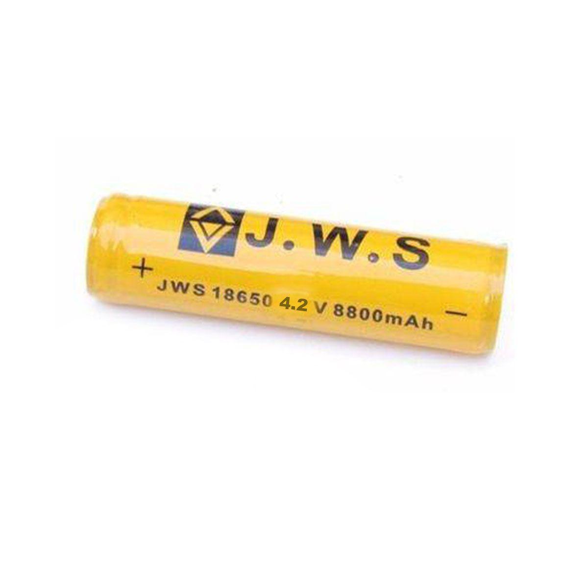 Bateria Recarregável Com Chip 18650 JWS