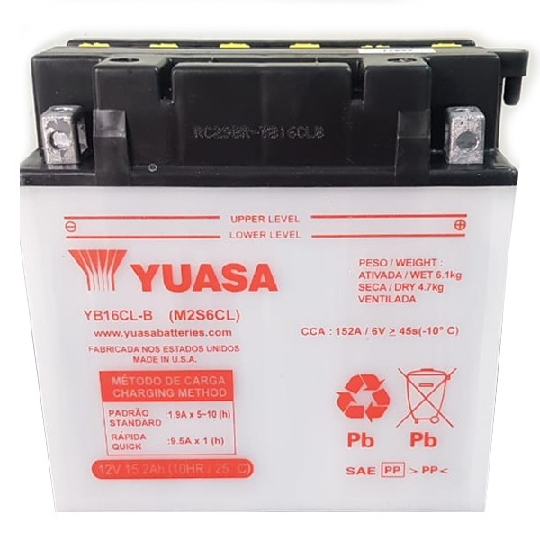 Bateria Yamaha Yuasa p/ Jet Ski (CB16C-LB 12V-19AH) - OC N 141