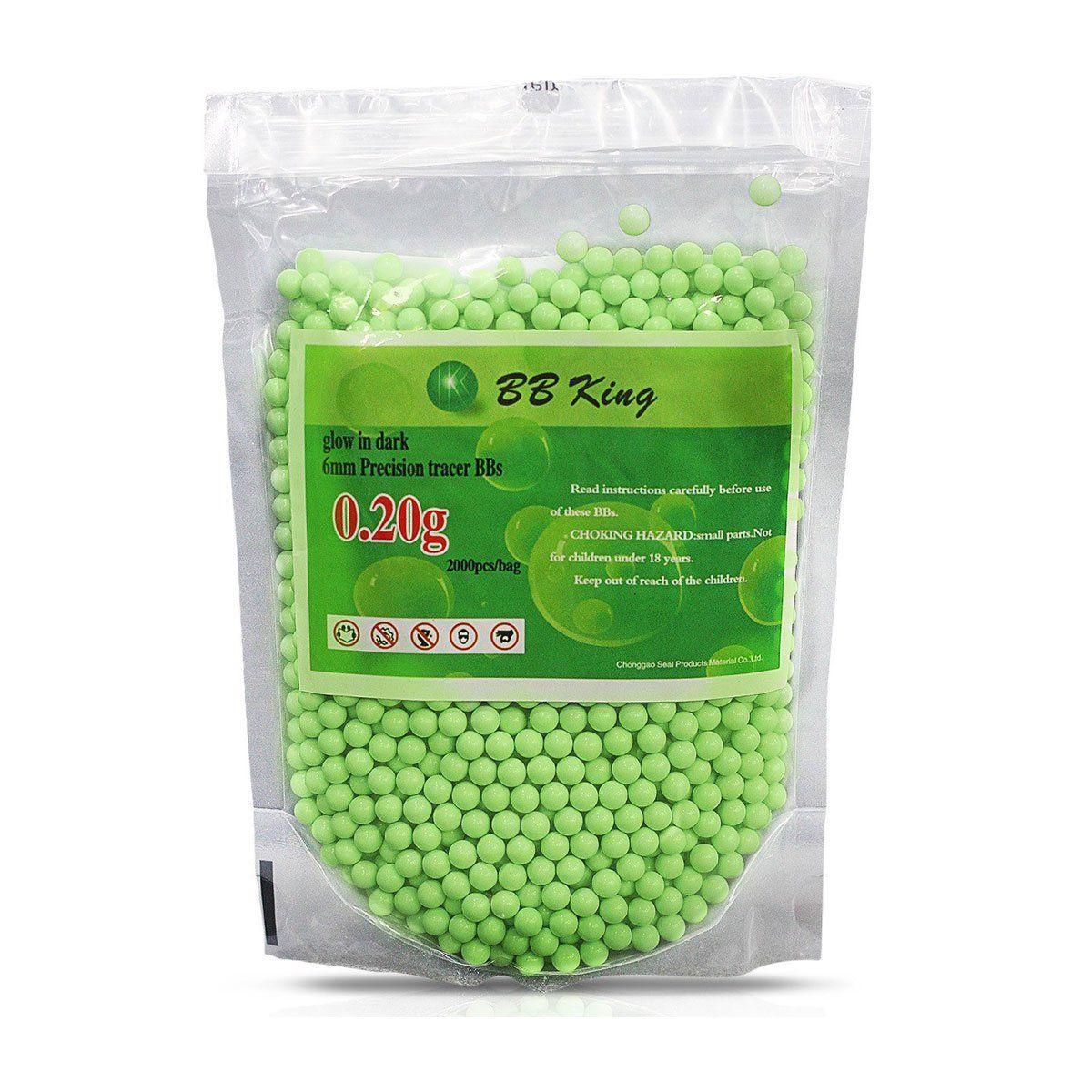 Esferas Plásticas BBs BB King Calibre 6mm 0,20g 2000un