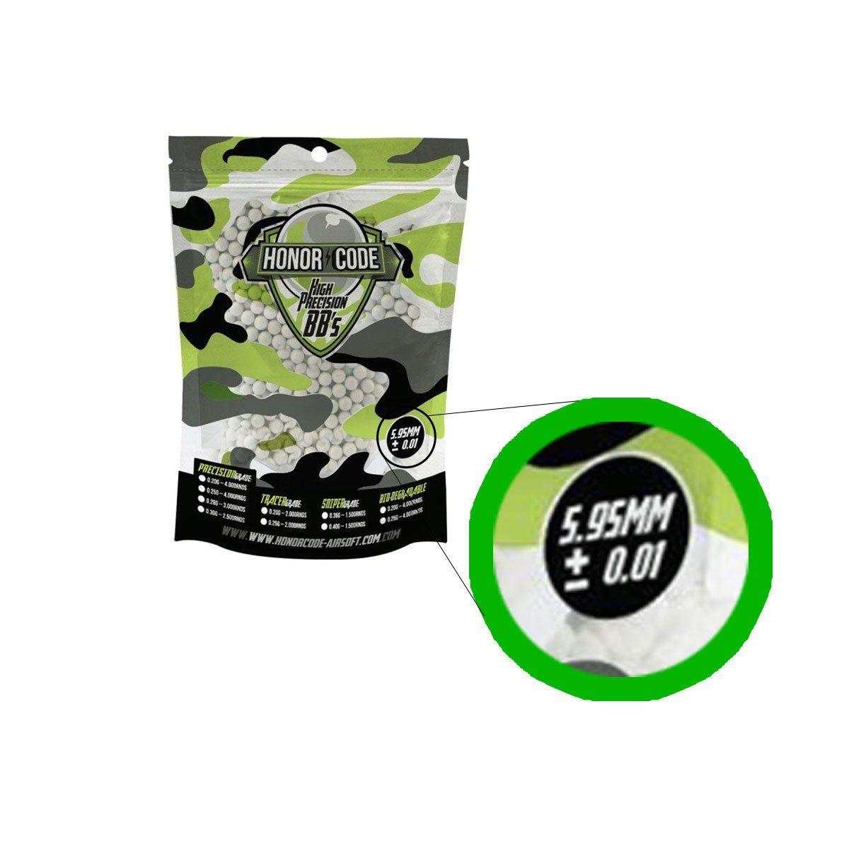 Municao/Esferas BBs 0,20 Honor Code 4000 unidades