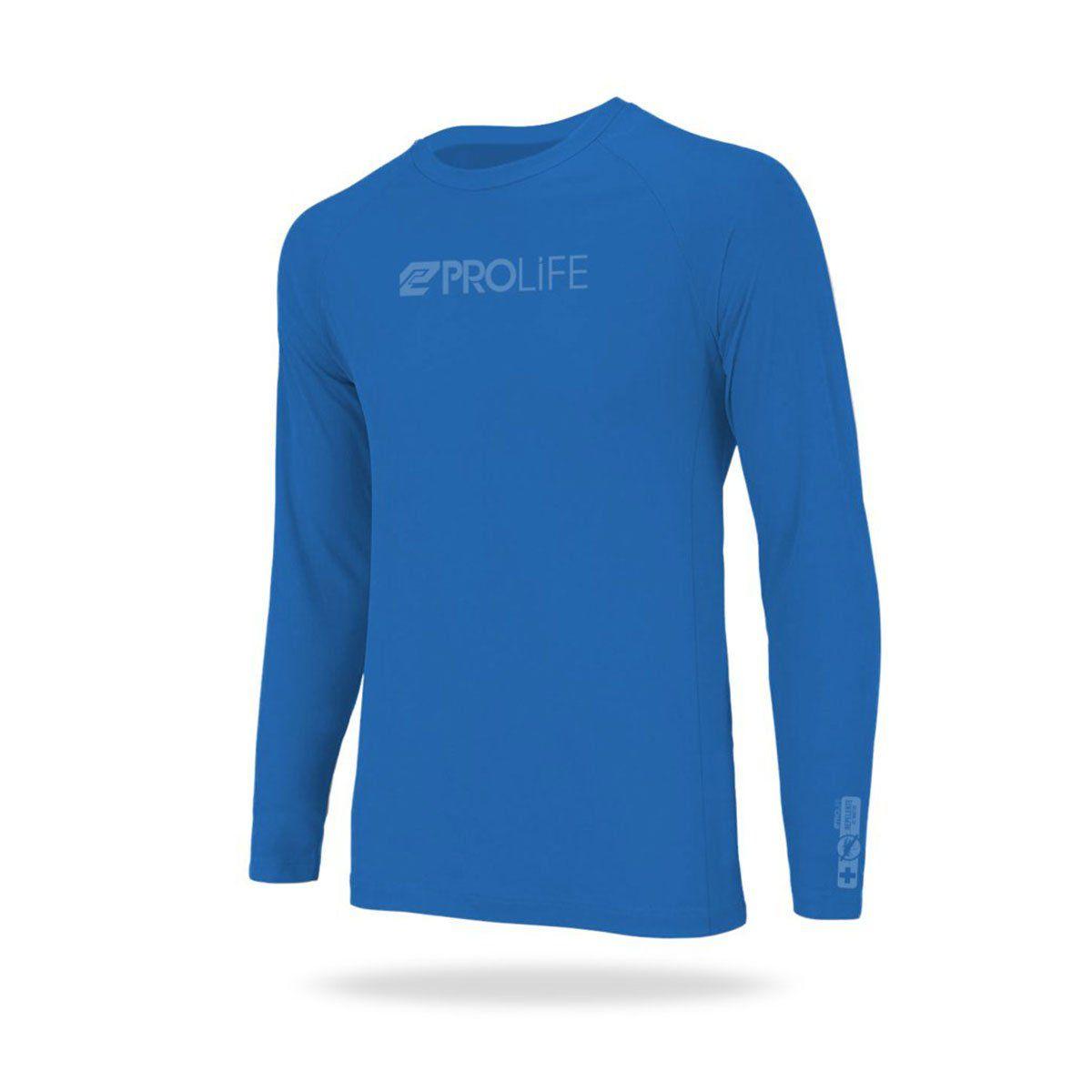 Blusa Repelente Insetos Masculina Prolife Azul