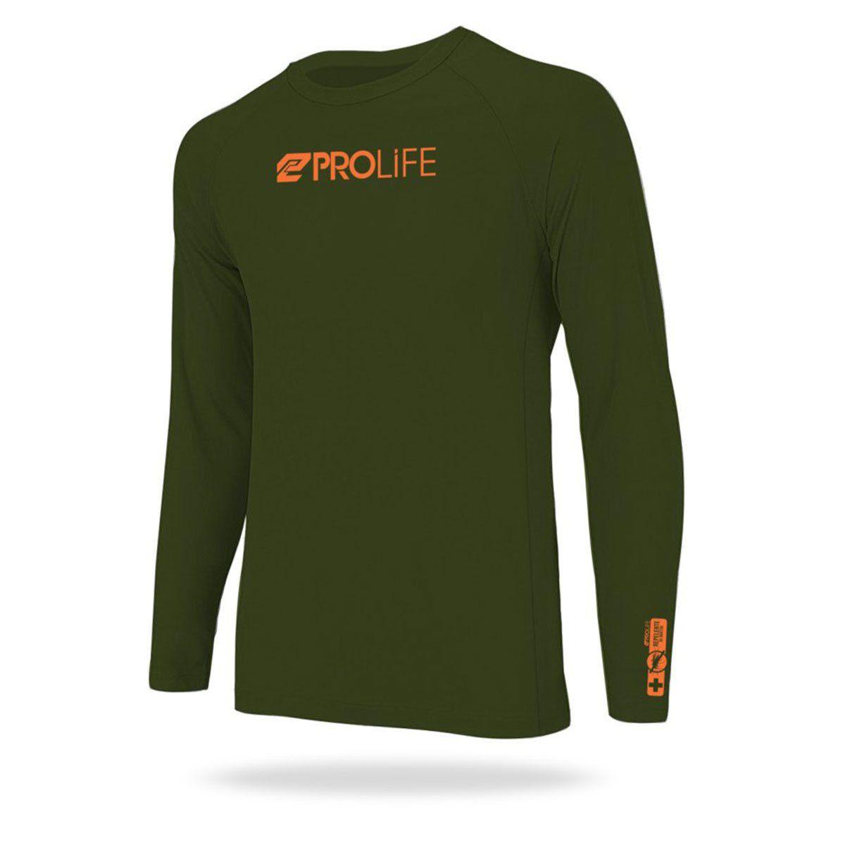 Blusa Repelente Insetos Masculina Prolife Verde