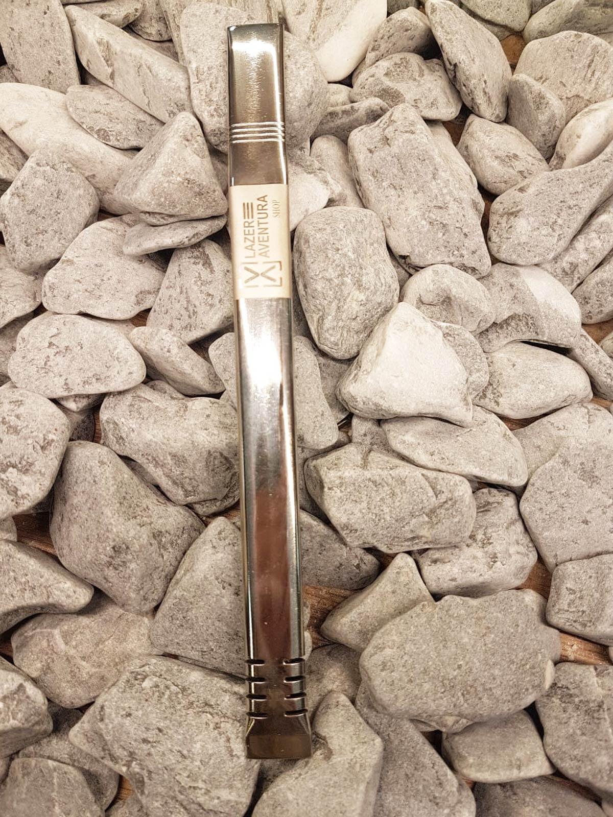 Bomba para Tereré Dentada em Aço Inox 19cm