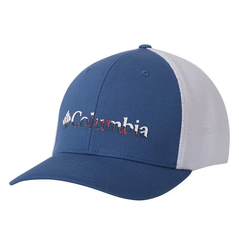 Boné Columbia Mesh Ballcap - Azul e Branco P