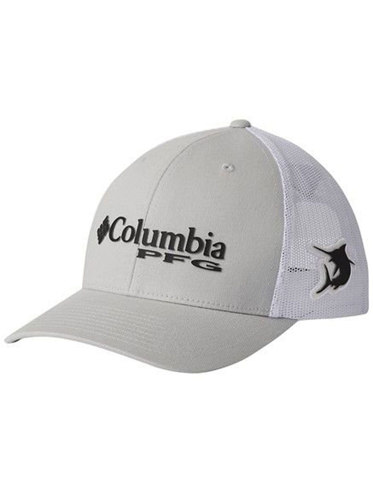 Boné Columbia PFG Mesh Snap Back Ball Cap - Cinza e Branco