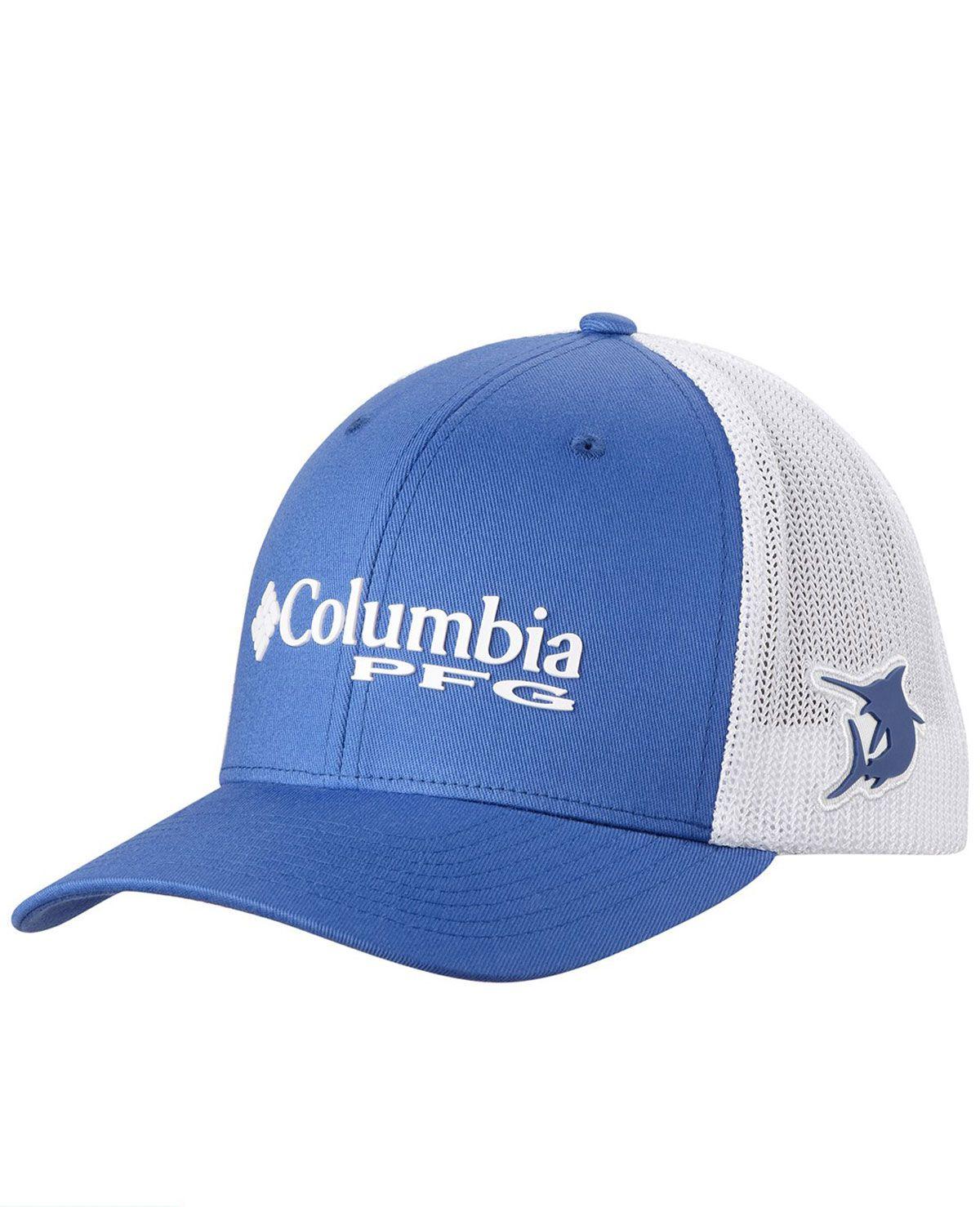 Boné Columbia PFG Mesh Snap Back Ball Cap - Azul e Branco