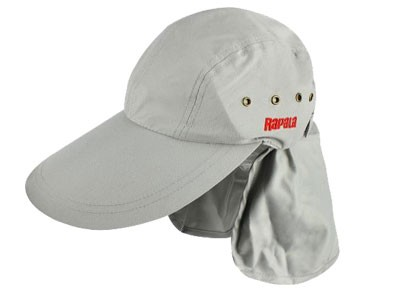 Boné Rapala com Proteção de Pescoço Cinza