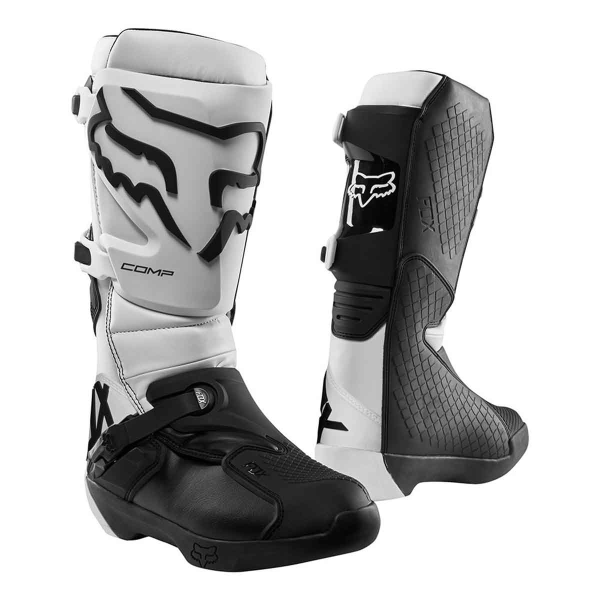 Bota de Motocross Fox Comp Branco Modelo 2019