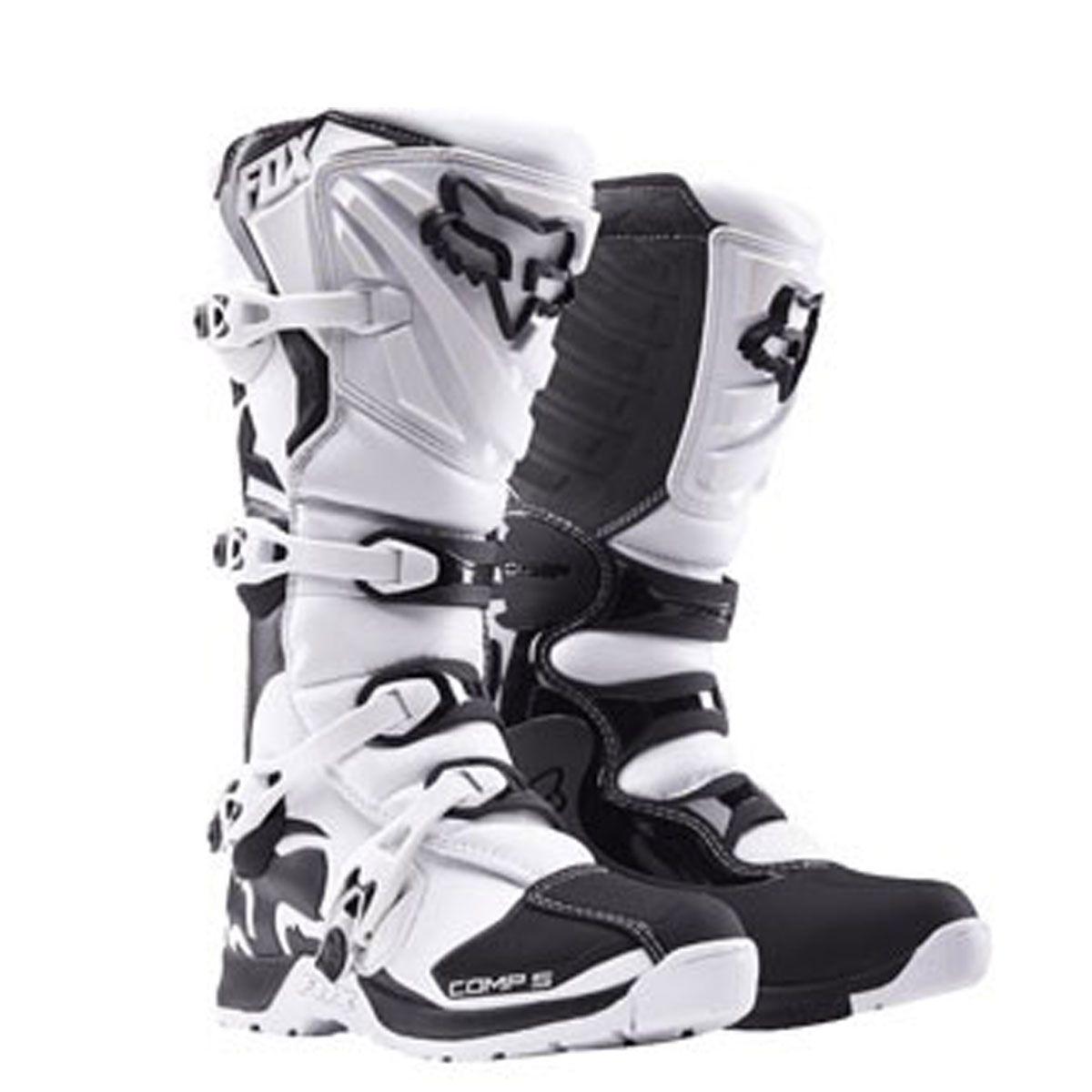 Bota de Motocross Fox Comp P5 Branco