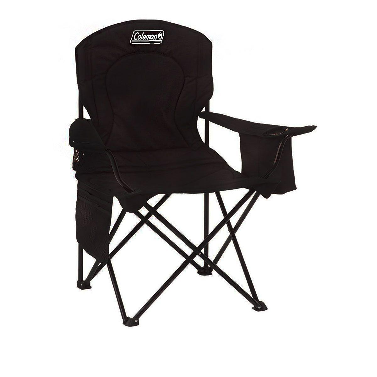 Cadeira Coleman Dobrável com Cooler Preto