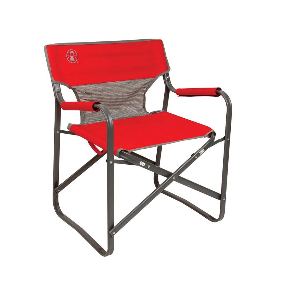 Cadeira Dobrável Coleman Steel Deck - Vermelho