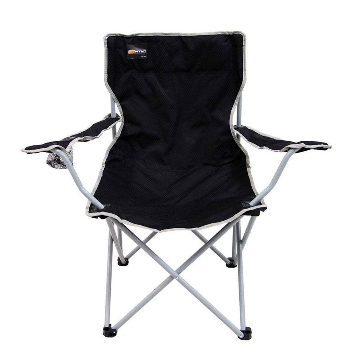 Cadeira Nautika Alvorada Dobrável para Camping Cor Preto