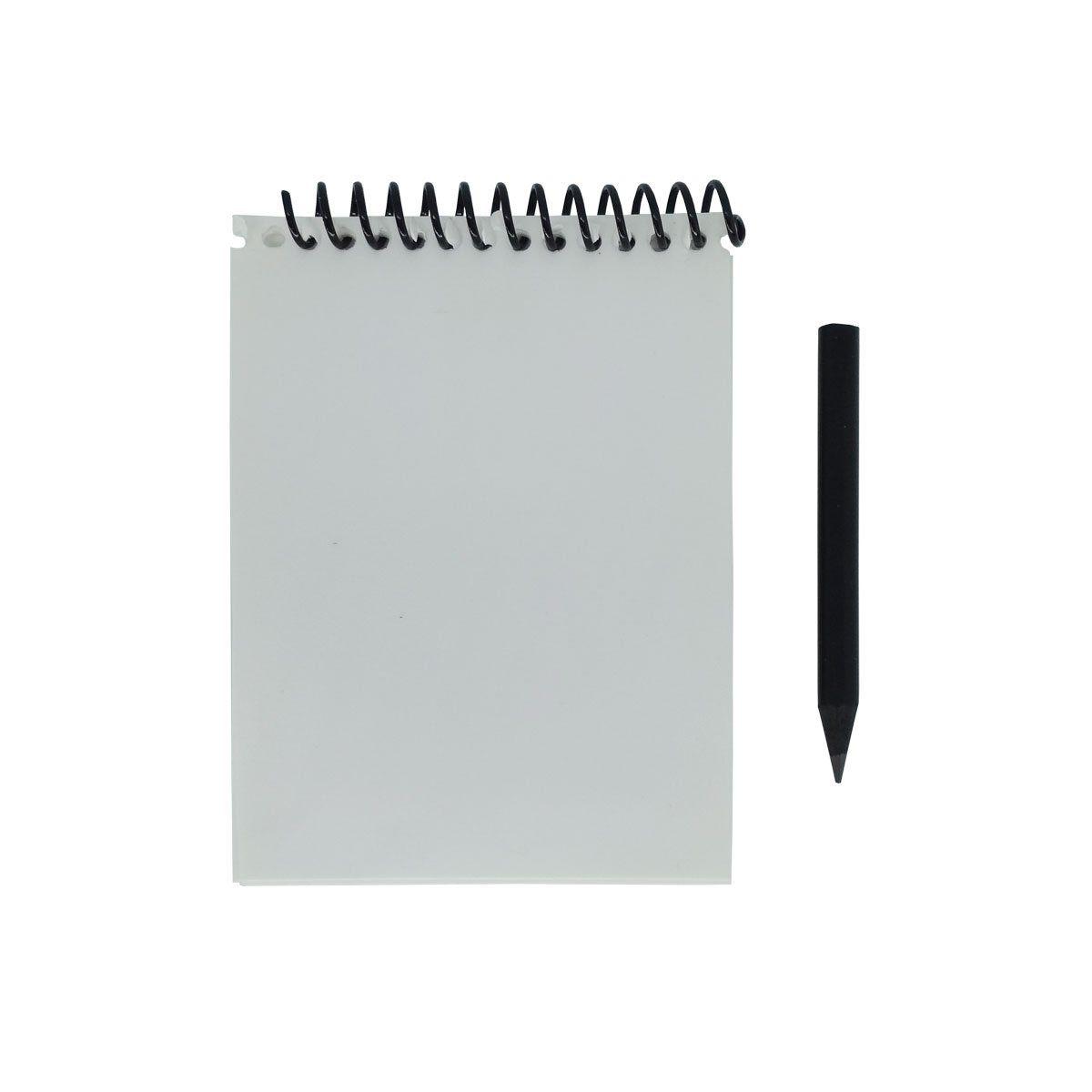 Caderneta Para Anotações Com Lâminas de PVC e Lápis Bravo